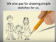 get pay by draw skeches