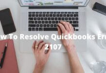 Quickbooks error 2107